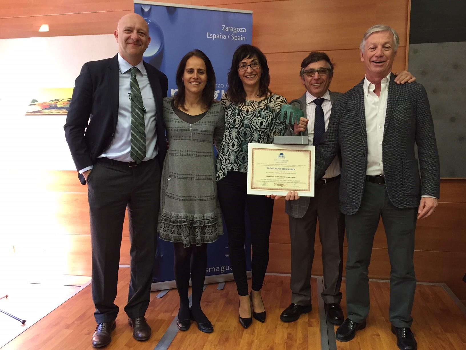 Rubau - Oscar Pardo recoge premio SMAGUA otorgado a Ca N'Alemany