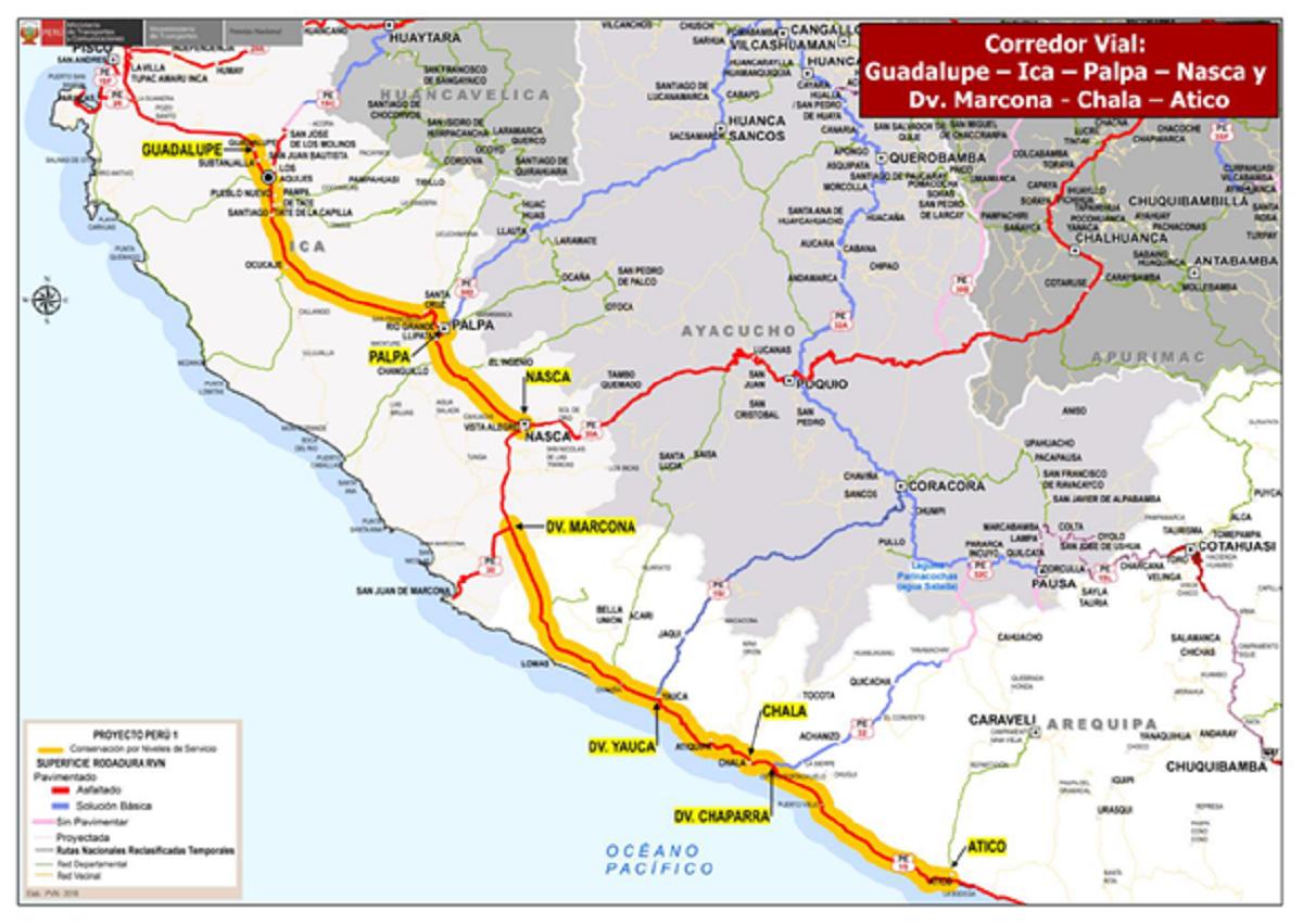 Rubau. Conservación carretera Perú